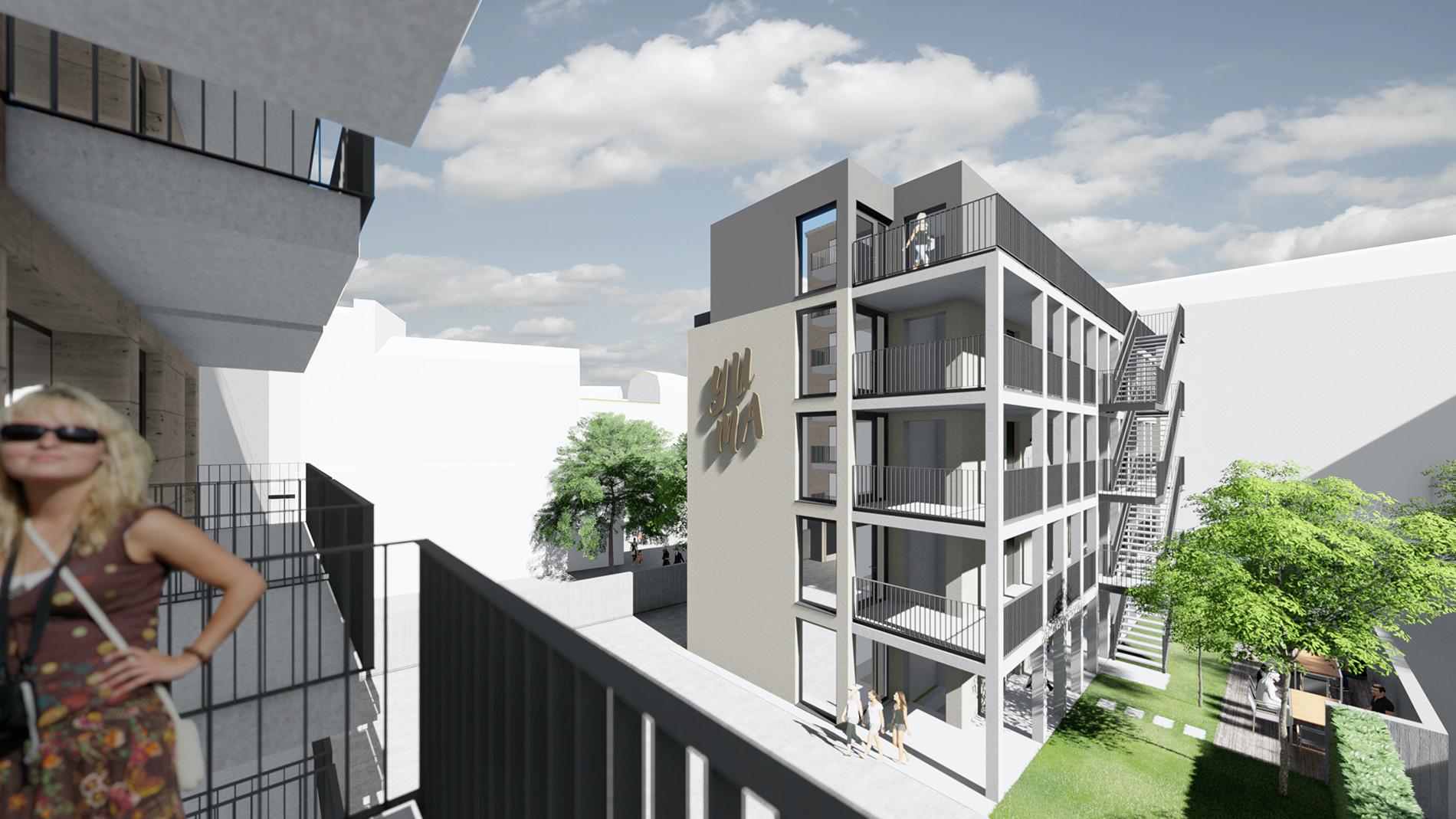 YUMA Leipzig Immobilie hinten – Immero