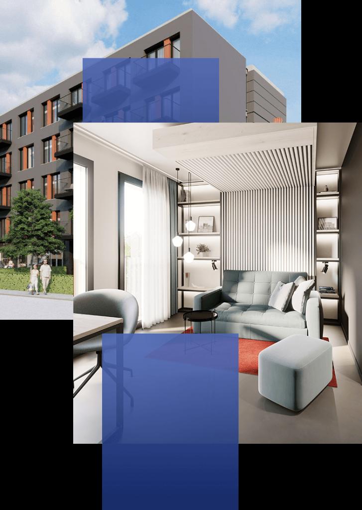 YUMA Managed Apartments mit Innenansicht – immero